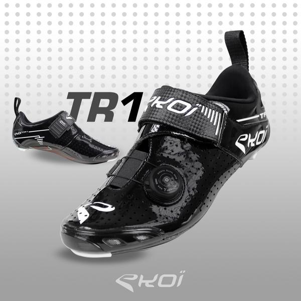 Triathlonschuhe EKOI TR1 LD Carbon Schwarz