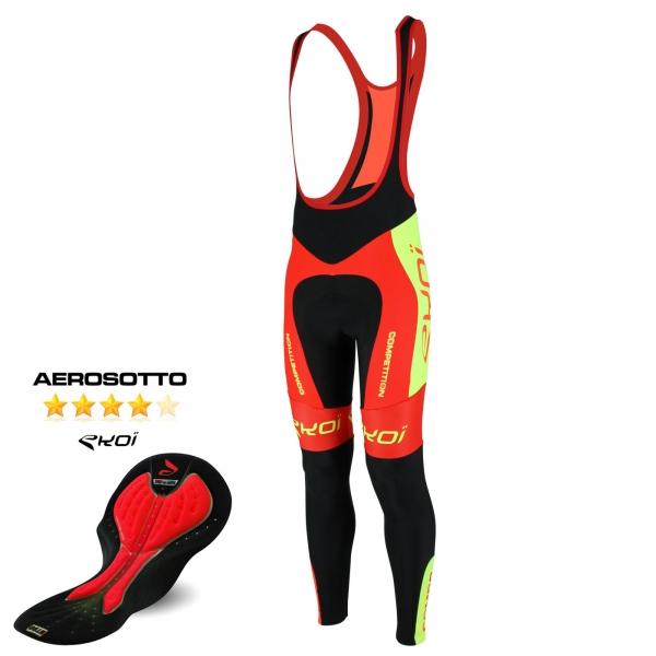 EKOI Competition9 Aerosoto pad Limited edition red & yellow bib tights