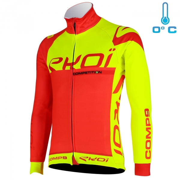 Veste thermique EKOI Competition9 LTD Rouge Jaune