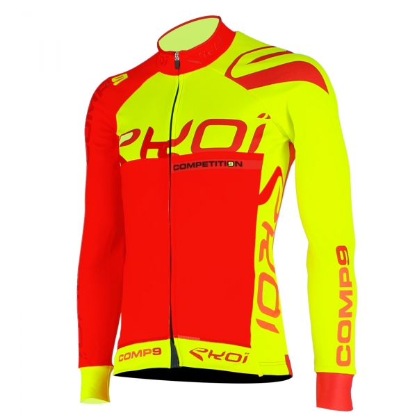 EKOI Competition9 Limited edition Red/yellow LS winter jersey