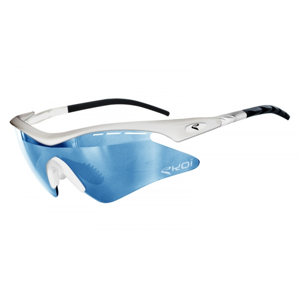EKOI Super Corsa Limited edition white frame blue photochromic lens sunglasses