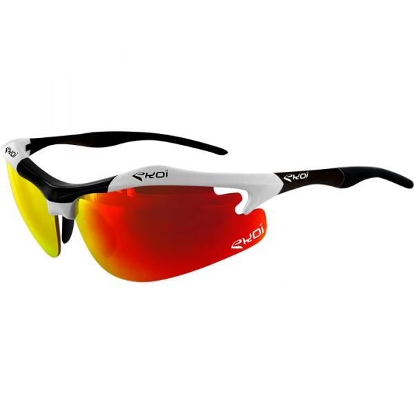 EKOI Diablo Evo Limited edition white and black frame revo red lens sunglasses