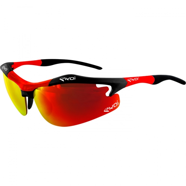 EKOI Diablo Evo Limited edition black and red frame revo red lens sunglasses