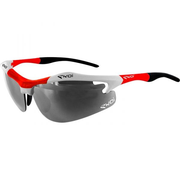 EKOI Diablo Evo Limited edition white and red frame photochromic sunglasses