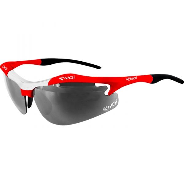 EKOI Diablo Evo Limited edition red and white frame photochromic sunglasses