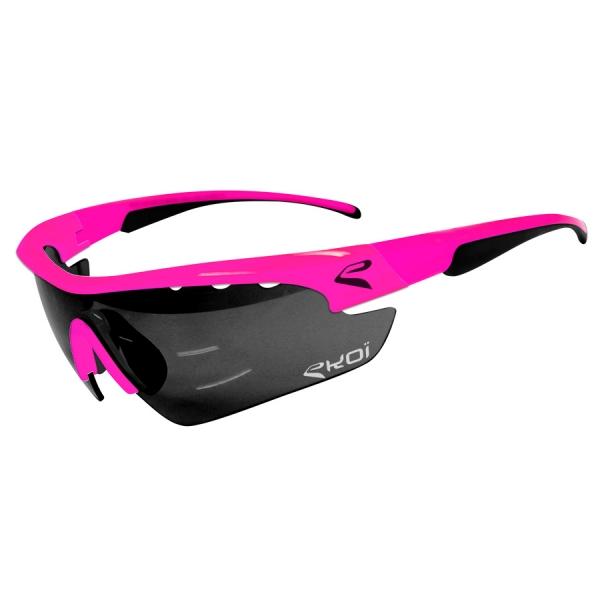 EKOI Multistrata Evo Limited edition XL pink frame mirror lens sunglasses
