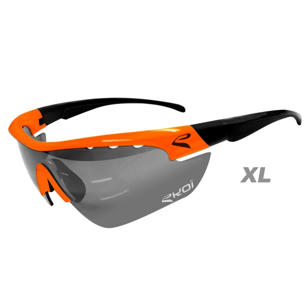 EKOI Multistrata Evo Limited edition XL orange and black frame photochromic sunglasses