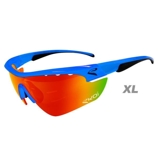 EKOI Multistrata Evo Limited edition XL sky blue frame red revo lens sunglasses