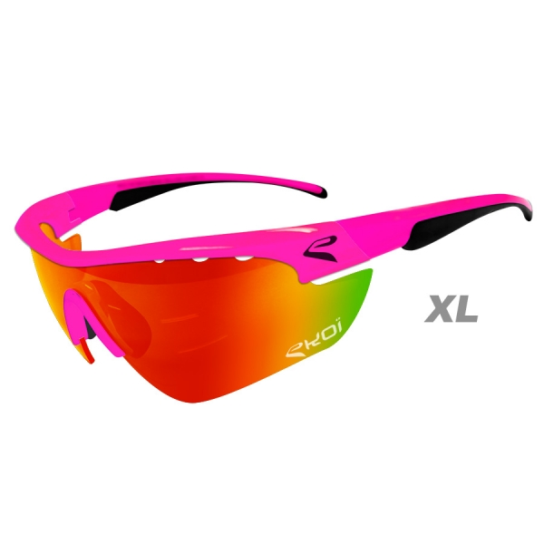 EKOI Multistrata Evo Limited edition XL pink frame red revo lens sunglasses