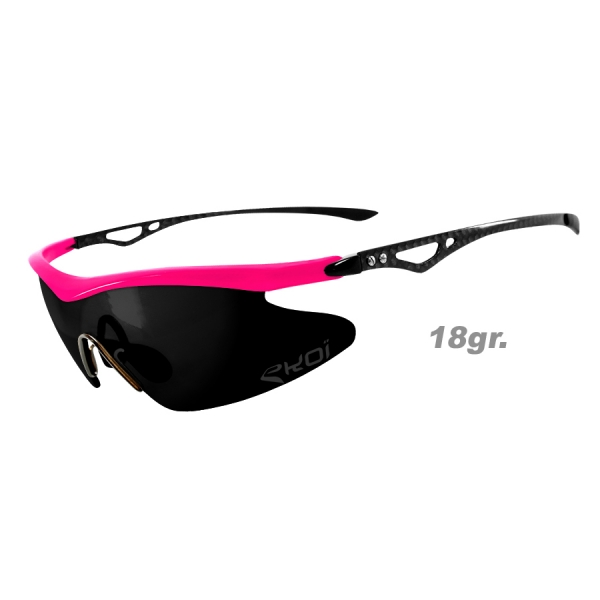 EKOI Real Carbon Limited edition pink mirror sunglasses