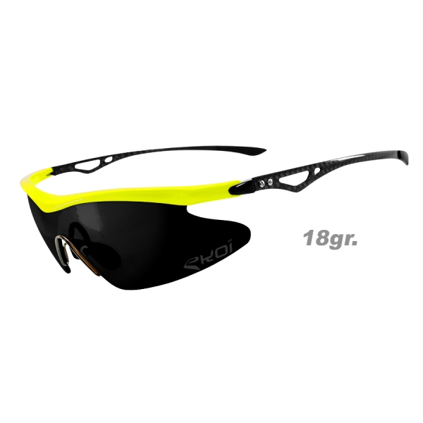 EKOI Real Carbon Limited edition yellow mirror sunglasses