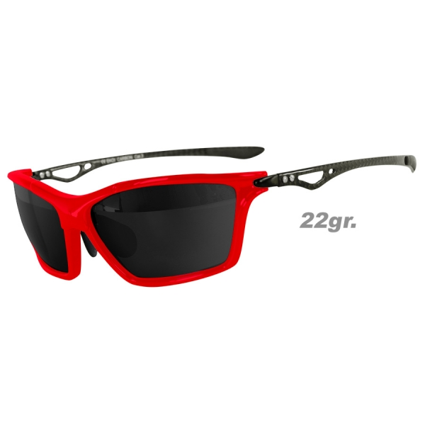 EKOI Rockn Carbon Limited edition red mirror sunglasses