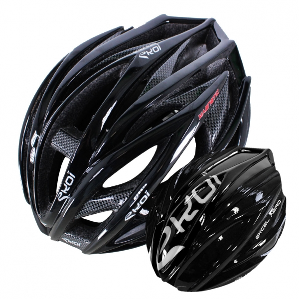 EKOI EKCEL black helmet and black aero shell bundle
