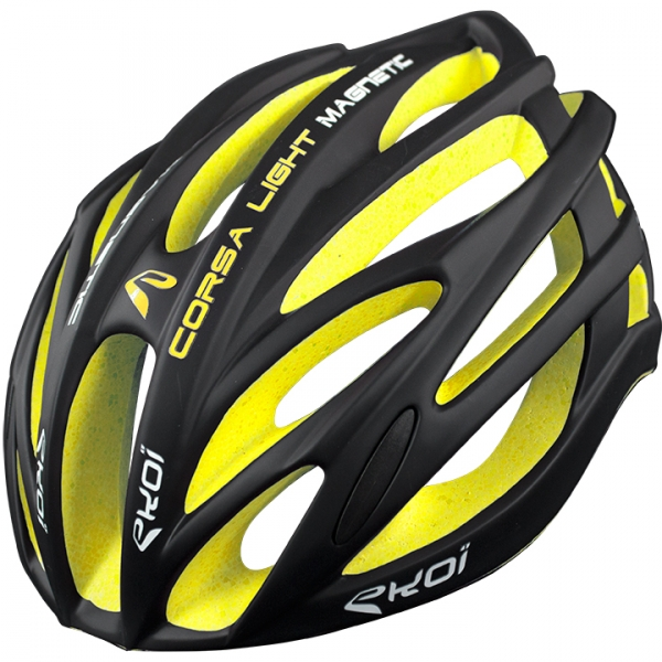 Casque EKOI CORSA LIGHT Noir Jaune