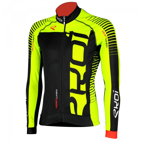 Winter Jersey EKOI PERFOLINEA 2016 Neon Yellow