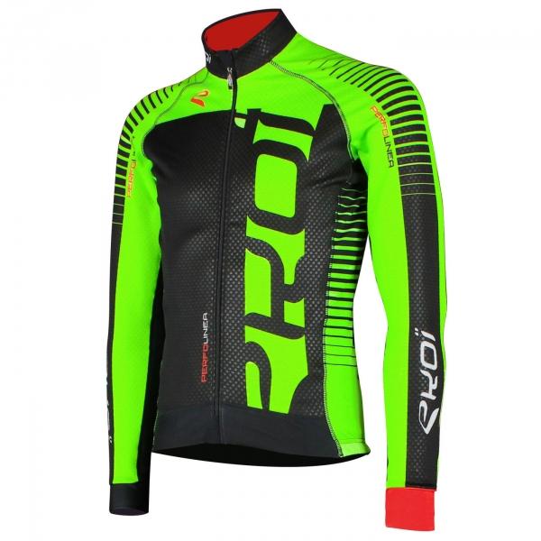 Zielona bluza termiczna EKOI PERFOLINEA LED Fluo