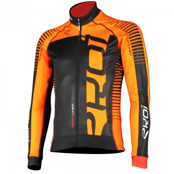Pomarańczowa bluza termiczna EKOI PERFOLINEA LED Fluo