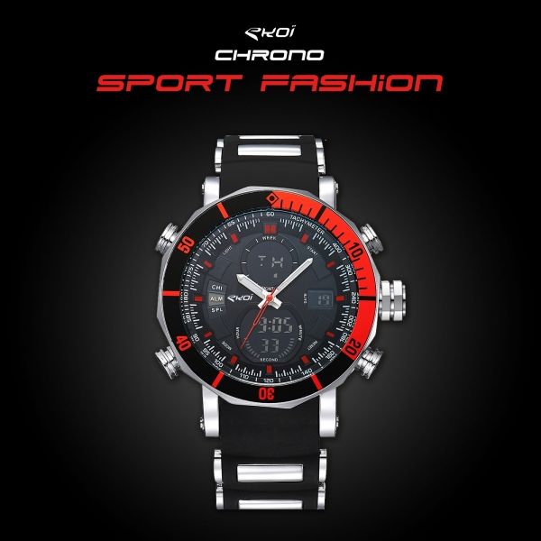 Montre EKOI Chrono Sport Fashion