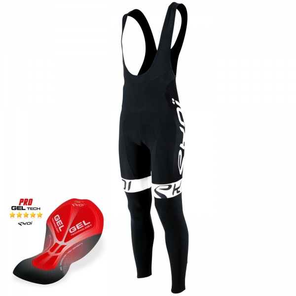 Bib Tights Gel EKOI Team Black /White