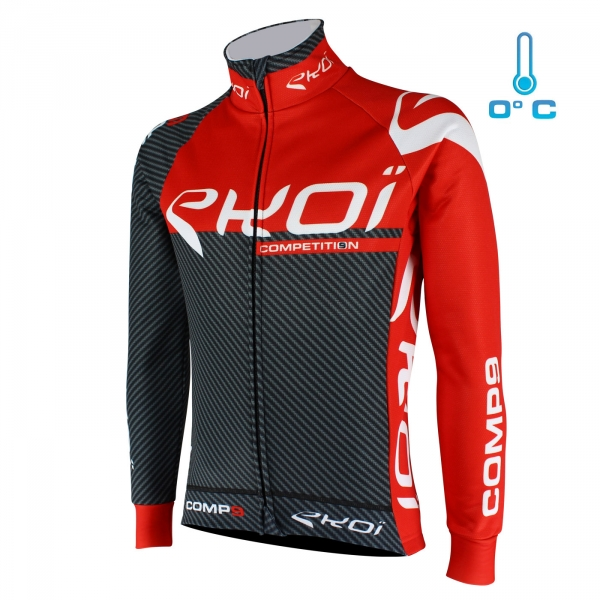 Veste thermique EKOI Competition9 Carbone Rouge