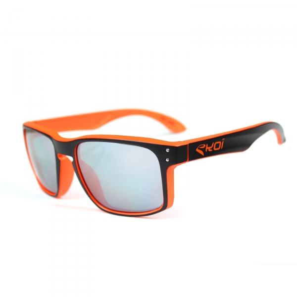 Czarno-pomarańczowe okulary EKOI Lifestyle