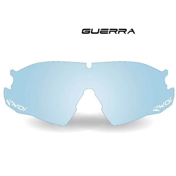 Fotokromatisk glas GUERRA i blå Kat 1-2