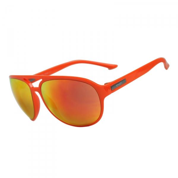Czarno-pomarańczowe okulary EKOI ROAD FASHION