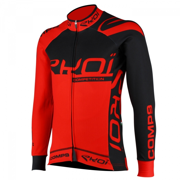 Wintershirt EKOI Competition9 Zwart-Rood