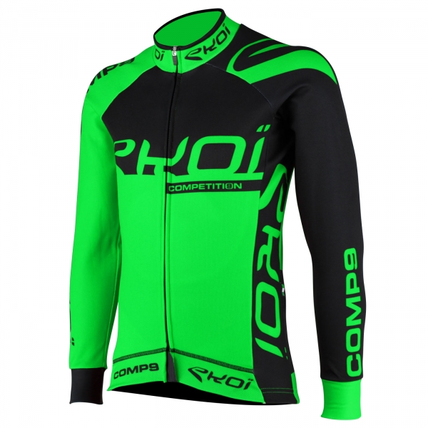Wintershirt EKOI Competition9 Zwart-Neon Groen
