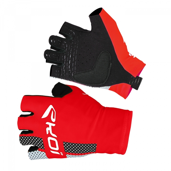 EKOI COMP10 red short-fingered cycling gloves