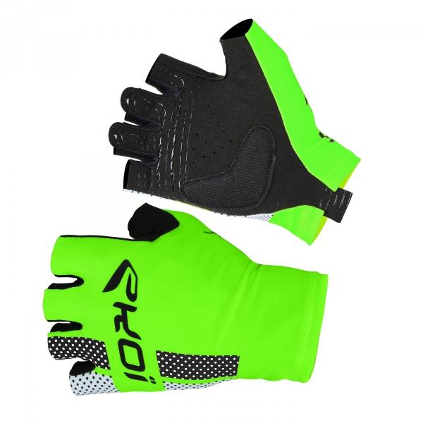 EKOI COMP10 fluo green short-fingered cycling gloves