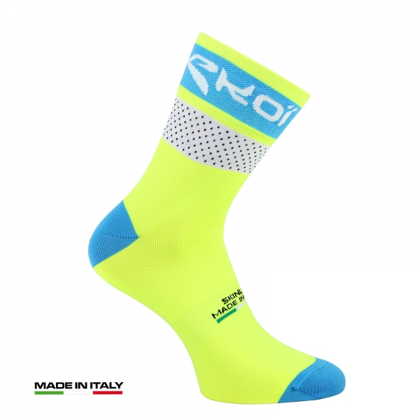 EKOI COMP 2017 yellow fluo summer cycling socks