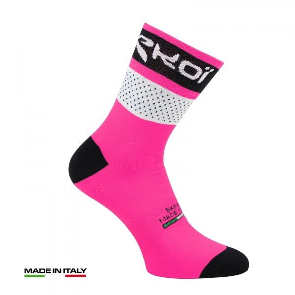 EKOI COMP 2017 pink fluo summer cycling socks