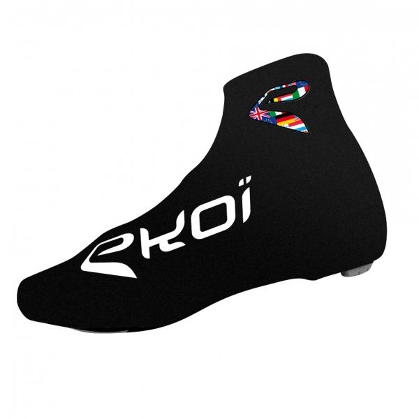 Letní návleky na cyklistické boty EKOI COMP 2017, černá