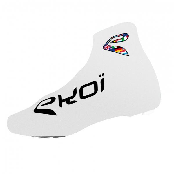 Ochroniacze na buty rowerowe letnie EKOI COMP 2017 Białe