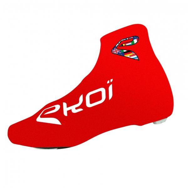Letní návleky na cyklistické boty EKOI COMP 2017, červená