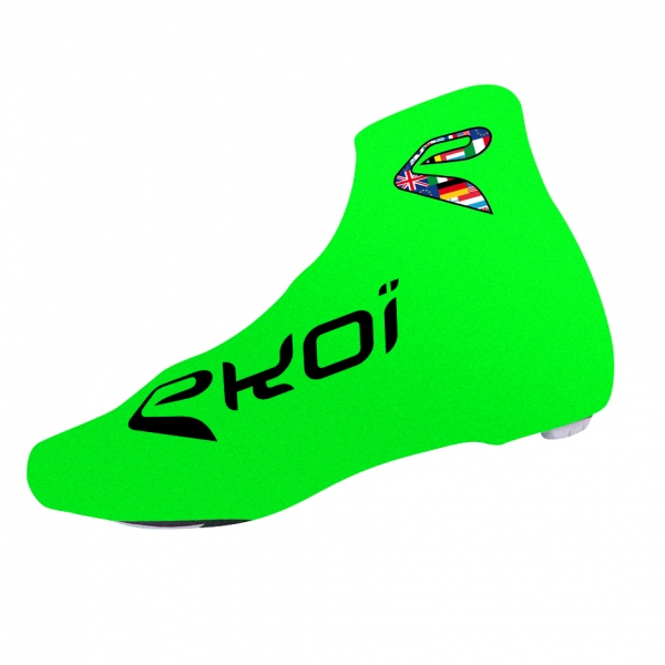 EKOI COMP 2017 green fluo summer cycling overshoes