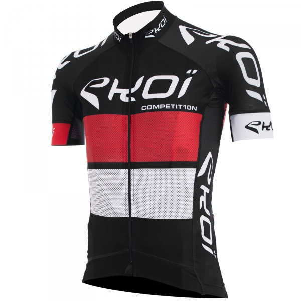 EKOI COMP10 black red white short sleeve jersey
