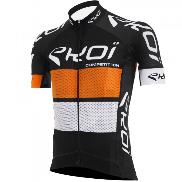 EKOI COMP10 black, orange & white short sleeve jersey
