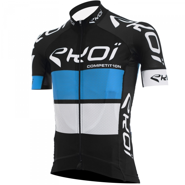 EKOI COMP10 black, blue & white short sleeve jersey