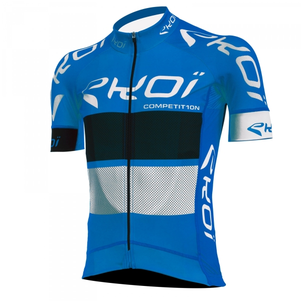 EKOI COMP10 blue, black & white short sleeve jersey