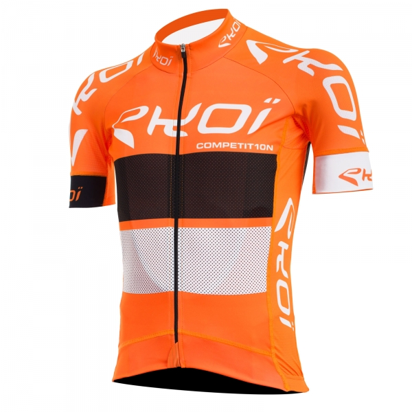 EKOI COMP10 orange, black & white short sleeve jersey