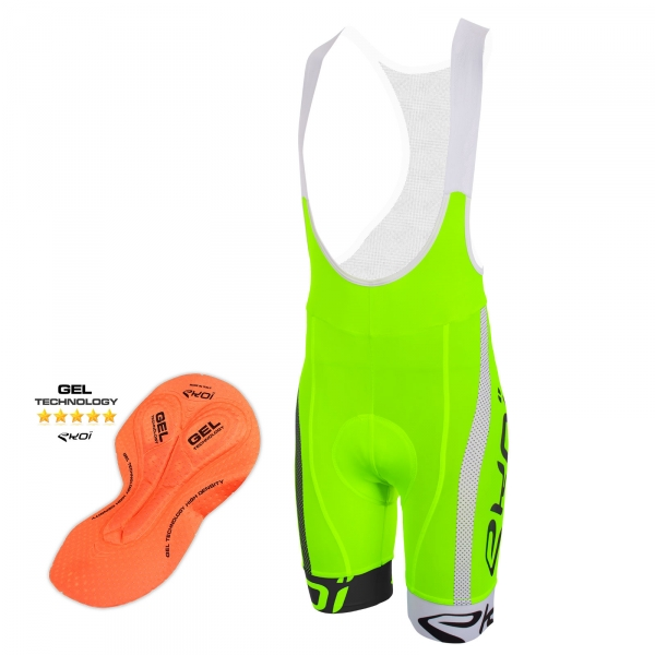 EKOI COMP10 BREATH GEL PAD green, black and white bib short
