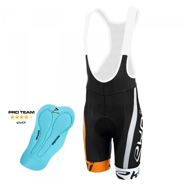 EKOI COMP10 PROTEAM PAD black, orange and white bib short