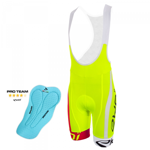 EKOI COMP10 PROTEAM pad yellow, red and white bib short