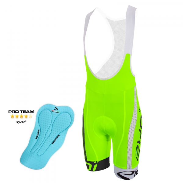 EKOI COMP10 PROTEAM pad green, black and white bib short