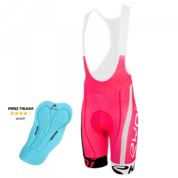 EKOI COMP10 PROTEAM pad pink, black and white bib short