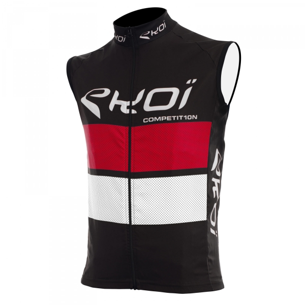 EKOI COMP10 black, red and white windproof gilet