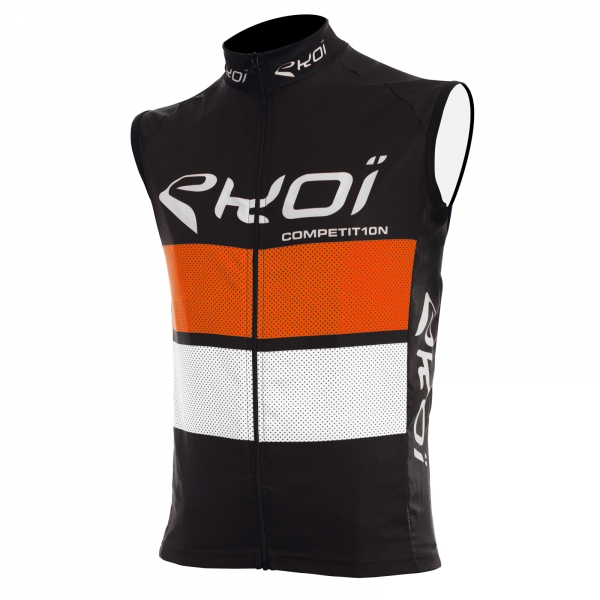Gilet coupe vent EKOI COMP10 Noir orange blanc