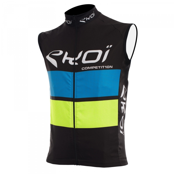 EKOI COMP10 black, blue and yellow windproof gilet